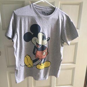 Disney Mickey Mouse Grey Short Sleeve Too